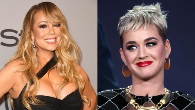 A resposta hilariante de Mariah Carey a um comentário de Katy Perry