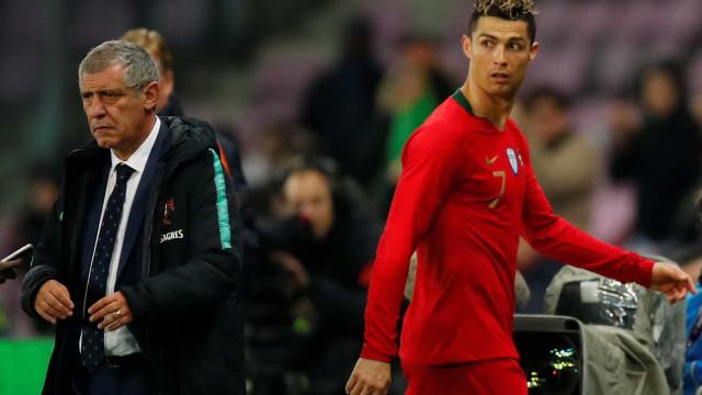 """Fernando Santos aconselha italianos: """"CR7? Esperem um bocadinho..."""""""