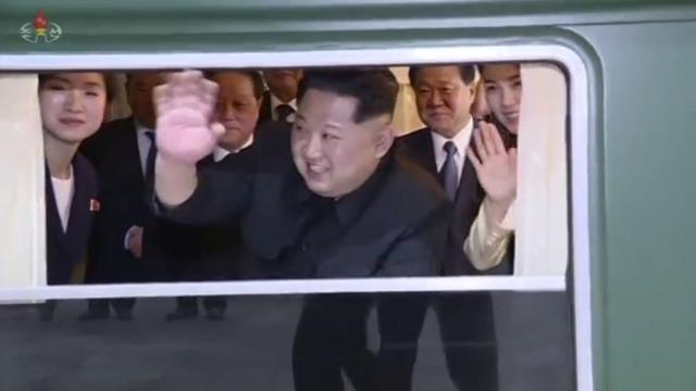 Televisão norte-coreana difunde imagens da visita de Kim Jong-un a Pequim