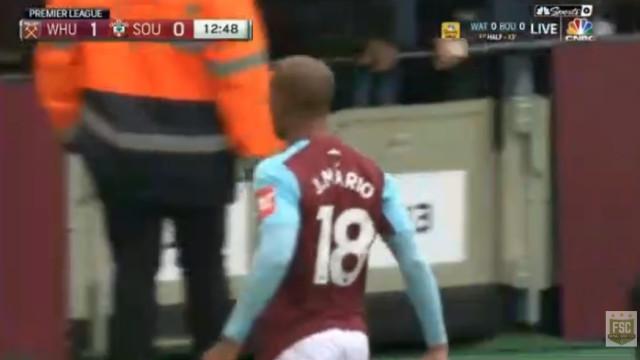 João Mário estreia-se a marcar pelo West Ham com um autêntico 'míssil'