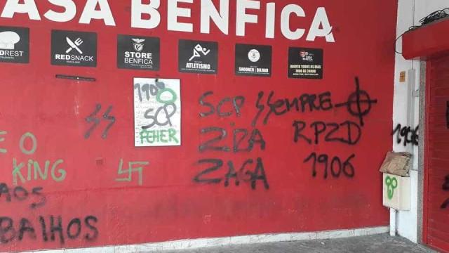 Casa do Benfica em Algueirão Mem Martins vandalizada