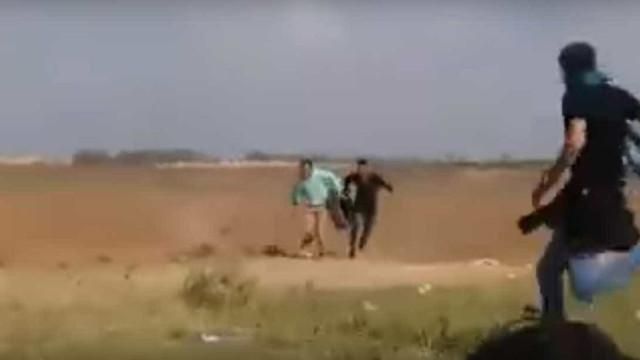 Violência na Faixa de Gaza: Vídeo mostra palestino a ser abatido