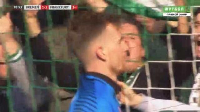 Bremen vence Frankfurt graças a erro garrafal de alvo do Benfica