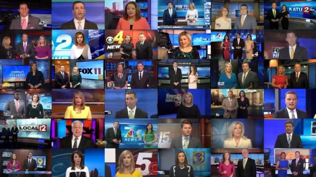 """Pivots """"reféns""""? Grupo de media dos EUA lê mensagem a 'uma só voz'"""