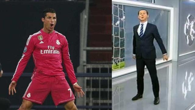Pivôt da RTP 'encarnou' Cristiano Ronaldo em direto