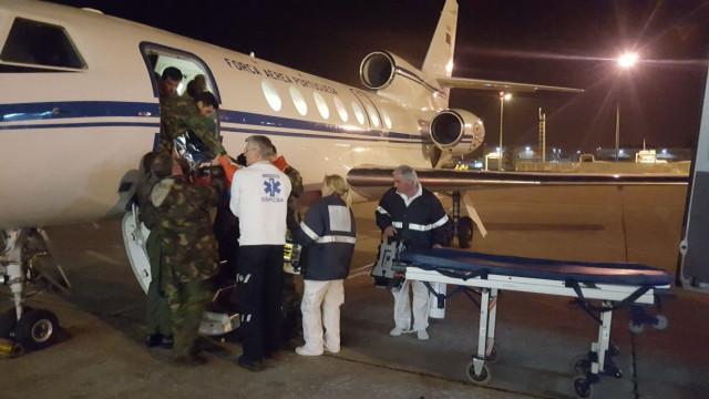 Força Aérea faz transporte urgente de bebé dos Açores para Lisboa