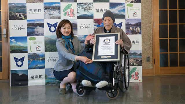 Japonês com 112 anos e 259 dias é o homem mais velho do mundo
