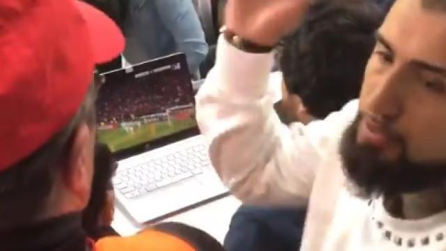 A reação curiosa de Vidal ao golo de Cristiano Ronaldo