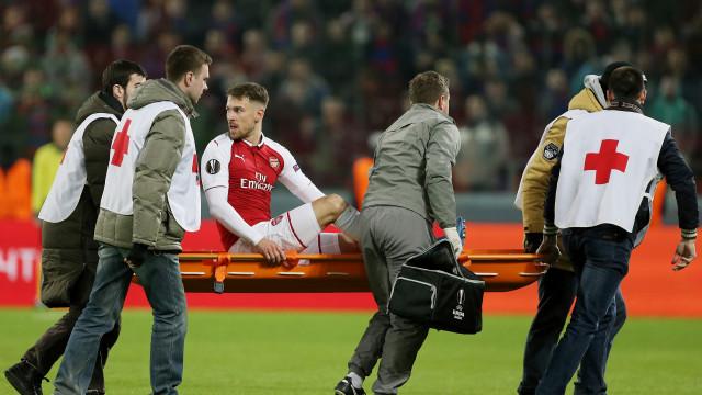 Ramsey mostra o (arrepiante) estado em que defrontou o CSKA