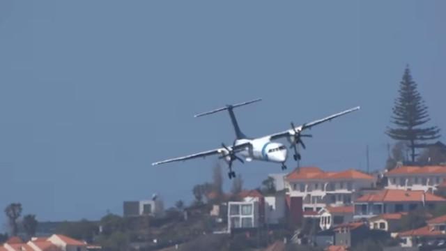 Vídeo mostra (incrível) 'luta' de avião da SATA ao aterrar na Madeira