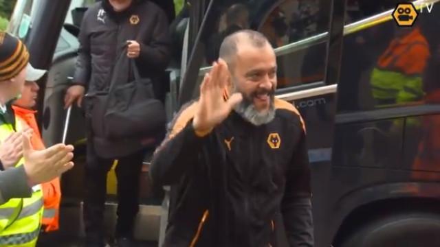 Wolves recebido em clima de euforia antes do jogo com o Birmingham