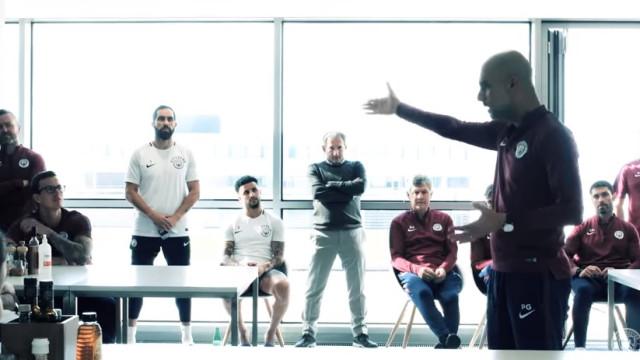 O arrepiante discurso de Guardiola após a conquista do título