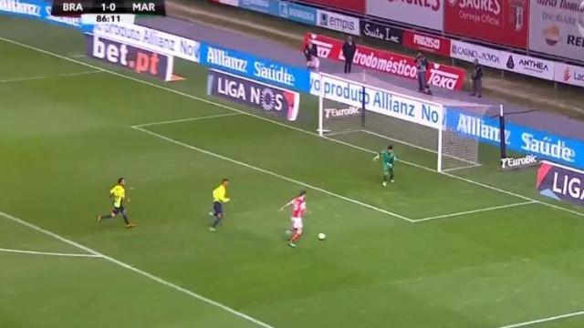 Mais uma excelente assistência de Ricardo Horta para um golo de Paulinho
