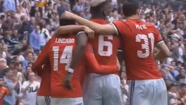 Erro de Dembelé e meninos de 'ouro' do Man. United empatam meia-final