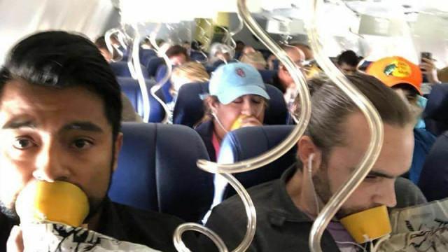 Foto do voo da Southwest mostra desconhecimento de regras de segurança