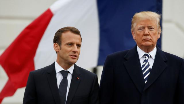 """Trump agradece a Macron a """"firme colaboração"""" no ataque na Síria"""