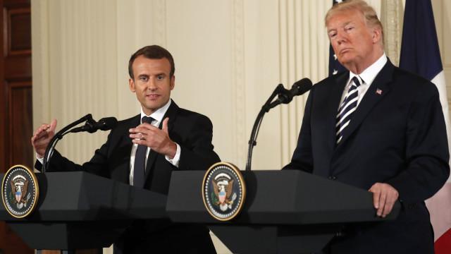Conter influência do Irão é a prioridade de Macron e de Trump