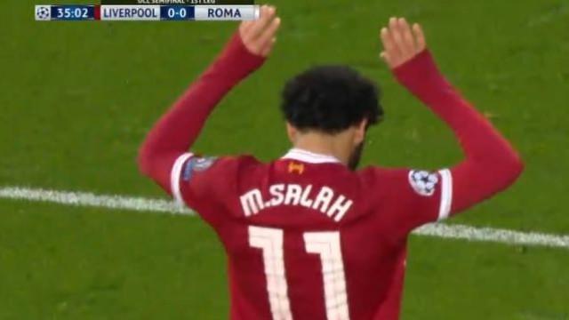 Salah colocou o Liverpool em vantagem com golo monumental