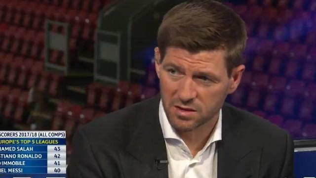 """Gerrard sem dúvidas: """"Salah é o melhor jogador do planeta neste momento"""""""