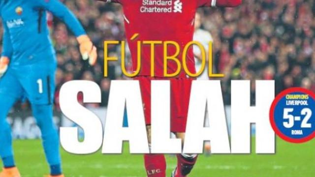 Destaques: Da exibição de gala de Salah ao confronto Ronaldo-Bayern