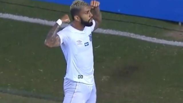 Gabigol quebra jejum com golo apontado na Libertadores