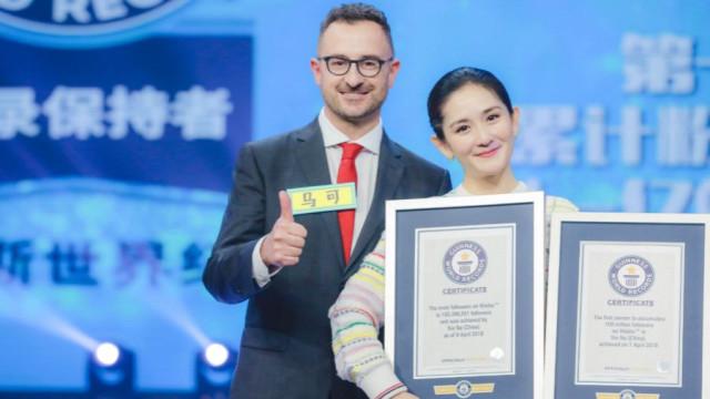 Atingiu 100 milhões de seguidores na Weibo e quebrou recordes