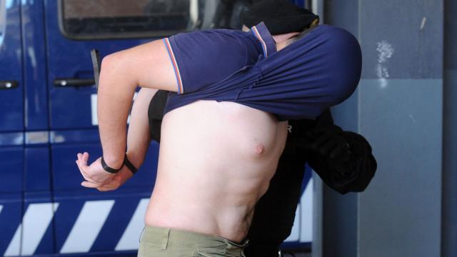 Agressões em Alcochete: As imagens dos detidos à chegada ao tribunal