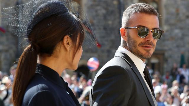 A reação de David Beckham à eliminação de Inglaterra do Mundial