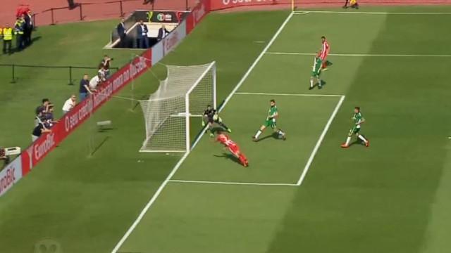 Minuto 16 e o Aves já gritou golo frente o Sporting