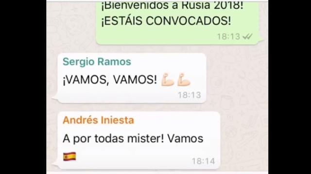 Foi por Whatsapp que Lopetegui anunciou os convocados de Espanha