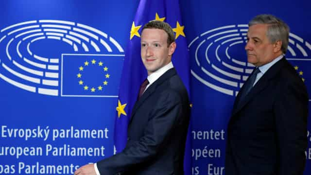 Zuckerberg evitou os 'ataques' na audiência com o Parlamento Europeu