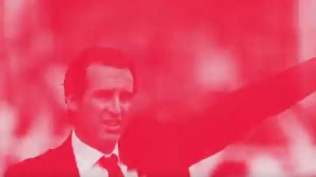 """Unai Emery apresentado pelo Arsenal em vídeo: """"O próximo capítulo"""""""