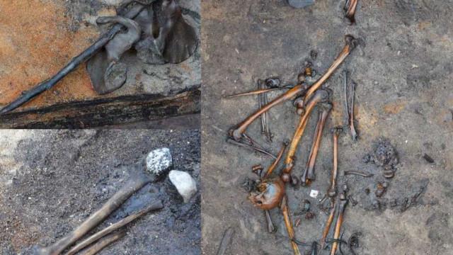 Ossos de guerreiros mortos há dois mil anos encontrados na Dinamarca