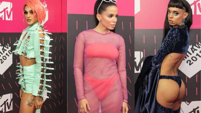 Looks bizarros e extravagantes marcam estreia dos MTV MIAW no Brasil