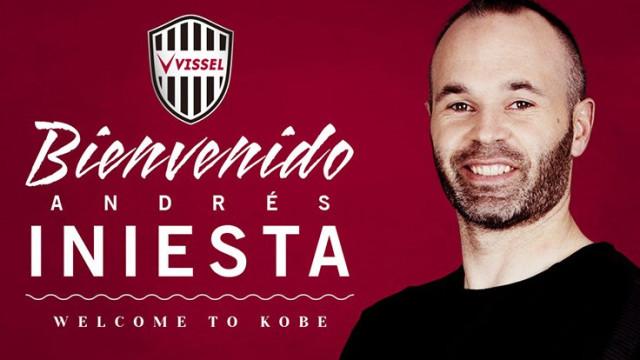 Iniesta apresentado como jogador do Vissel Kobe