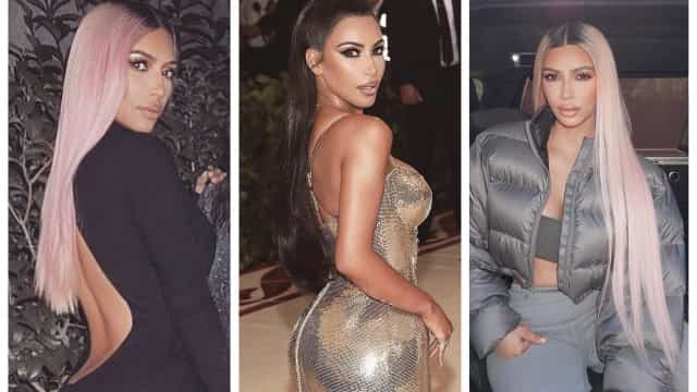 Kim mudou de visual. A socialite adotou o look preferido de Kanye