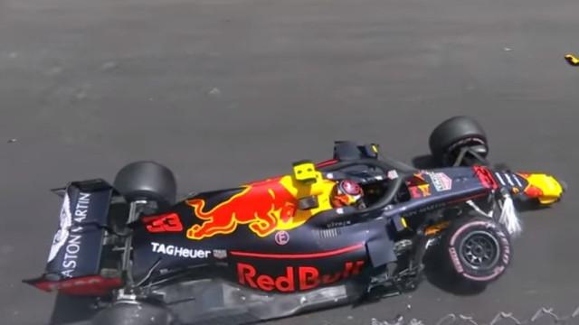 Verstappen perde o controlo do carro e despista-se no Mónaco