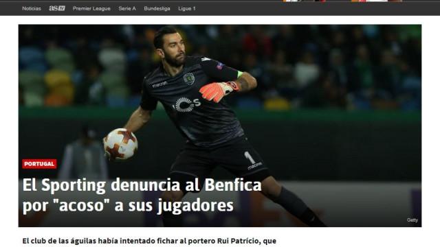 Guerra aberta entre Benfica e Sporting já está na imprensa internacional