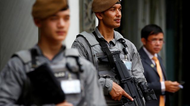 Eis a tropa especial que veio do Nepal para guardar histórica cimeira