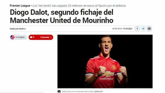 Imprensa internacional rendida ao 'menino' luso do Manchester United