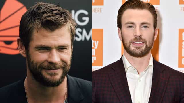 "Chris Hemsworth brinca: ""O Chris Evans copiou a minha barba"""