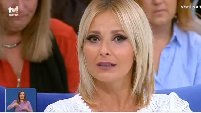 Cristina Ferreira emociona-se com palavras de concorrente de concurso
