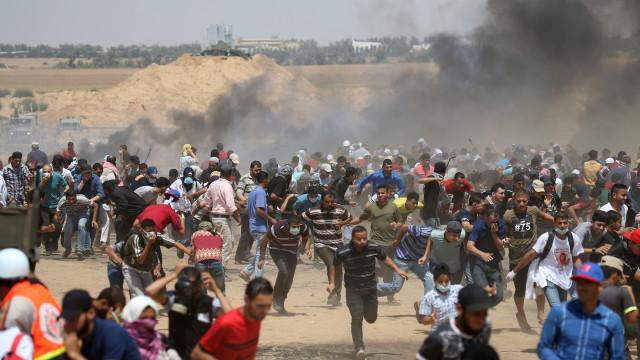 Protestos em Gaza fazem pelo menos três mortos e 618 feridos