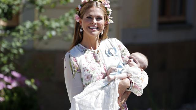 O batismo da filha mais nova da princesa Madeleine e Christopher O'Neill