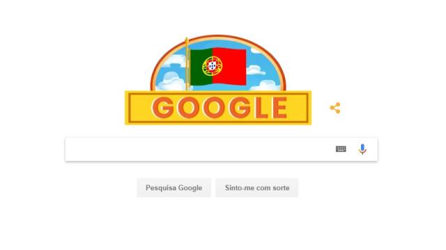 Nem o Google se esqueceu do Dia de Portugal