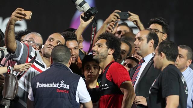 Salah regressa aos treinos depois da lesão na final da Champions