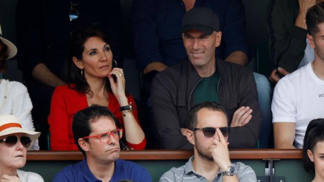 Roland Garros: Depois do adeus Real, Zidane volta a ser visto em público