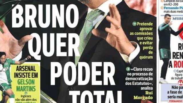 Cá dentro: Bruno de Carvalho quer poder total