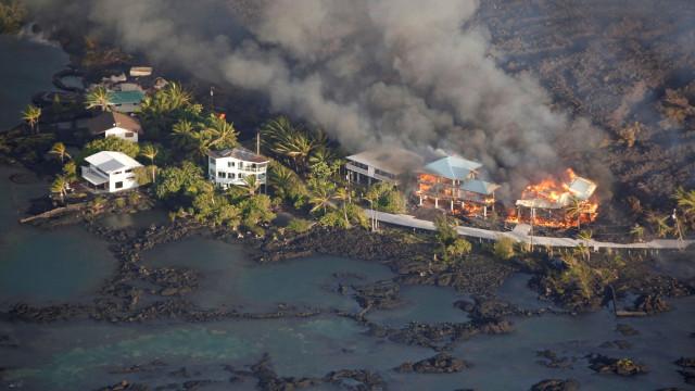 Vídeo mostra força destruidora do vulcão Kilauea
