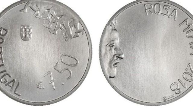 Banco de Portugal coloca em circulação moeda de coleção 'Rosa Mota'